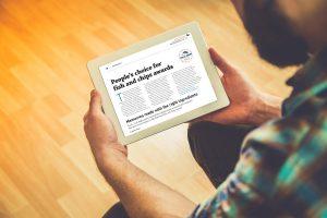 Digital magazine on Tablet
